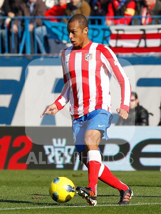 Madrid (04/12/2011).- Estadio Vicente Calderon..LIGA BBVA 15ª Jornada.Atletico de Madrid - Rayo Vallecano........