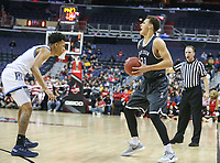Washington, DC - March 11, 2018: Davidson Wildcats guard Kellan Grady (31) looks to pass the ball during the Atlantic 10 championship game between Rhode Island and Davidson at  Capital One Arena in Washington, DC.   (Photo by Elliott Brown/Media Images International)