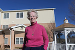 Site manager for Holy Trinity Manor Sister Ruth Ann Hehn stands outside the home that houses low income elderly and disabled people earlier this week. Hehn, 71, says she loves the people that work for the poor and social justice are what is special about Laramie County.  Michael Smith/staff