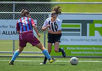 Action from the 2019 National Age Group Tournament Under-16 Girls football match between Northern and Southern at Memorial Park in Petone, Wellington, New Zealand on Friday, 13 December 2019. Photo: Dave Lintott / lintottphoto.co.nz