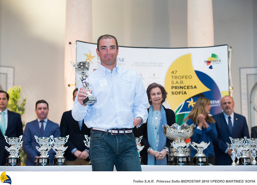 47 Trofeo Princesa Sofia IBEROSTAR, bay of Palma, Mallorca, Spain, takes<br /> place from 25th March to 2nd April 2016. Qualifier event for the Rio 2016<br /> Olympic Games. Almost 800 boats and over 1.000 sailors from to 65 nations<br /> &copy;Pedro Martinez/Trofeo Sofia