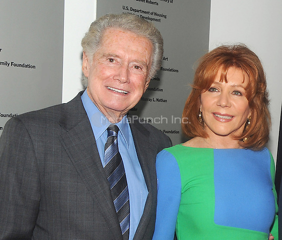 "New York, NY-June 5: Regis Philbin and Joy Philbin attends  ""Remembering The Artist: Robert DeNero Sr."" New York Premiere at the Museum Of Modern Art on June 5, 2014 in New York City. (C) Credit: John Palmer/MediaPunch"