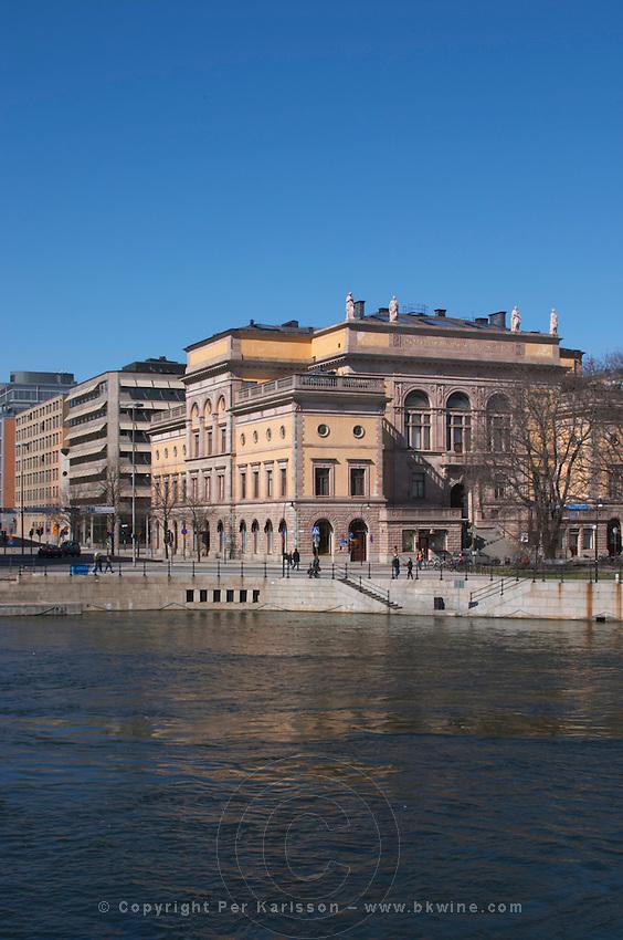 Konstakademien The Royal Academy for the fine arts. Stockholms Ström water. Norrmalm. Stockholm. Sweden, Europe.