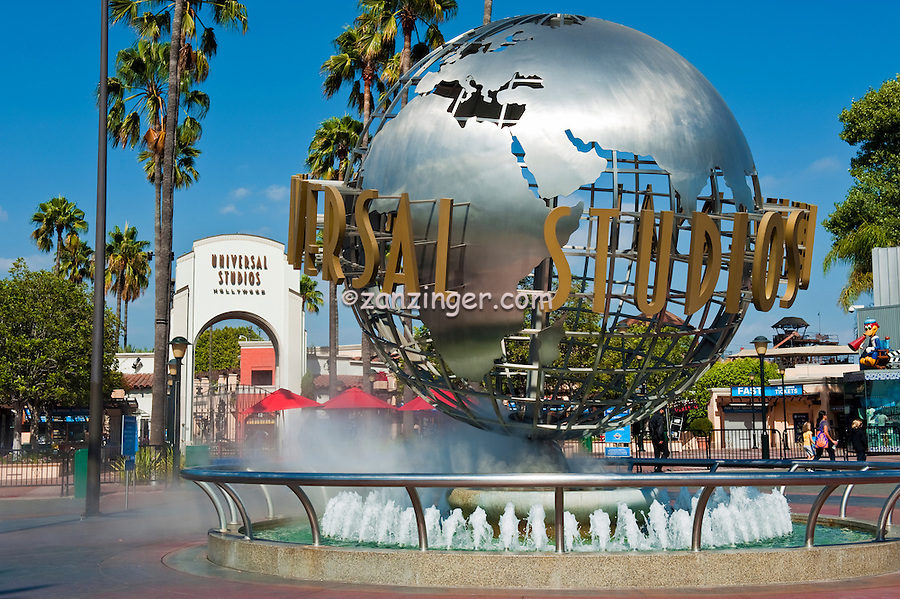 Universal Studios, theme park, Turning World Globe, Universal City, CA, holiday,  travel, us, usa, vacation,