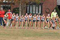 University of  Wisconsin Women's Cross Country Team compete at the 2011  Big Ten Championships, Champaigne, IL. October 29th, 2011.