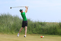 Sean Doyle (Black Bush) on the 3rd tee during Round 4 of the East of Ireland Amateur Open Championship 2018 at Co. Louth Golf Club, Baltray, Co. Louth on Monday 4th June 2018.<br /> Picture:  Thos Caffrey / Golffile<br /> <br /> All photo usage must carry mandatory copyright credit (&copy; Golffile | Thos Caffrey)