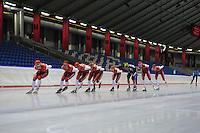 SCHAATSEN: HEERENVEEN: IJsstadion Thialf, 08-07-2013, Training zomerijs, Team Corendon, ©foto Martin de Jong