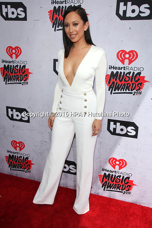 LOS ANGELES - APR 3:  Cheryl Burke at the iHeart Radio Music Awards 2016 Arrivals at the The Forum on April 3, 2016 in Inglewood, CA