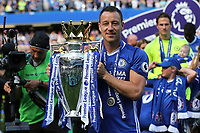 John Terry of Chelsea holds the Premier League Trophy as he celebrates winning the Premier League during Chelsea vs Sunderland AFC, Premier League Football at Stamford Bridge on 21st May 2017