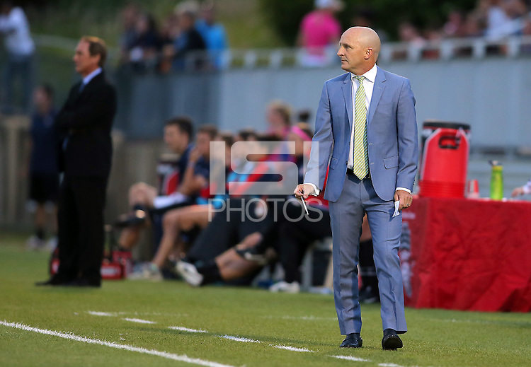 Boyds, MD - Saturday Sept. 03, 2016: Paul Riley during a regular season National Women's Soccer League (NWSL) match between the Washington Spirit and the Western New York Flash at Maureen Hendricks Field, Maryland SoccerPlex.