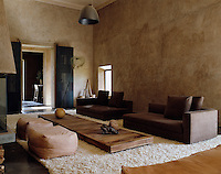 The furniture in the living room was custom designed and many of the soft furnishings were sourced from local craftsmen