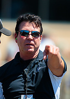 Jul 27, 2019; Sonoma, CA, USA; Papa Johns Pizza founder John Schnatter in attendance of NHRA qualifying for the Sonoma Nationals at Sonoma Raceway. Mandatory Credit: Mark J. Rebilas-USA TODAY Sports