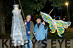 Dan Murphy and Cheri Sueker all ready for the lantern parade in Listowel on Saturday