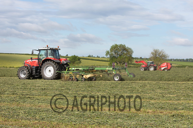 19.5.2020 Turning and baling  silage in Rutland <br /> ©Tim Scrivener Photographer 07850 303986<br />      ....Covering Agriculture In The UK....