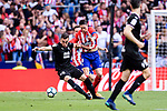 Fernando Torres of Atletico de Madrid (R) fights for the ball with Gonzalo Escalante of SD Eibar (L) during the La Liga match between Atletico Madrid and Eibar at Wanda Metropolitano Stadium on May 20, 2018 in Madrid, Spain. Photo by Diego Souto / Power Sport Images
