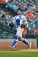 Kole Cottam (13) of the Kentucky Wildcats chases a fly ball against the Sam Houston State Bearkats during game four of the 2018 Shriners Hospitals for Children College Classic at Minute Maid Park on March 3, 2018 in Houston, Texas. The Wildcats defeated the Bearkats 7-2.  (Brian Westerholt/Four Seam Images)