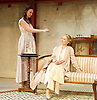 The Roundabout <br /> by JB Priestley <br /> directed by Hugh Ross<br /> at Park Theatre, London, Great Britain <br /> 24th August 2016 <br /> Press photocall <br /> <br /> Bessie Carter as Pamela Kettlewell <br /> Lisa Bowerman as Lady Kettlewell <br /> <br /> <br /> <br /> <br /> <br /> <br /> Photograph by Elliott Franks <br /> Image licensed to Elliott Franks Photography Services