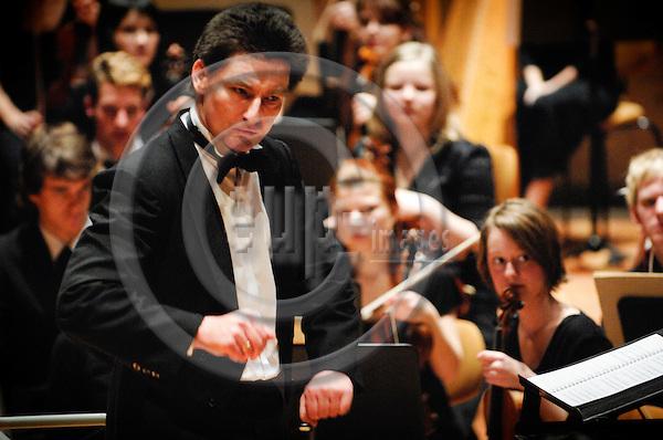 BERLIN - GERMANY 5. 1. 2007 -- The German-Scandinavian Youth orchestra (Deutsch-Skandinavische Jugend-Philharmonie) in concert at the Berliner Philharmonie during the 31. German-Scandinavian Orchestraweek. Conductor Andreas Peer Kähler -- PHOTO: GORM K. GAARE / EUP- IMAGES .