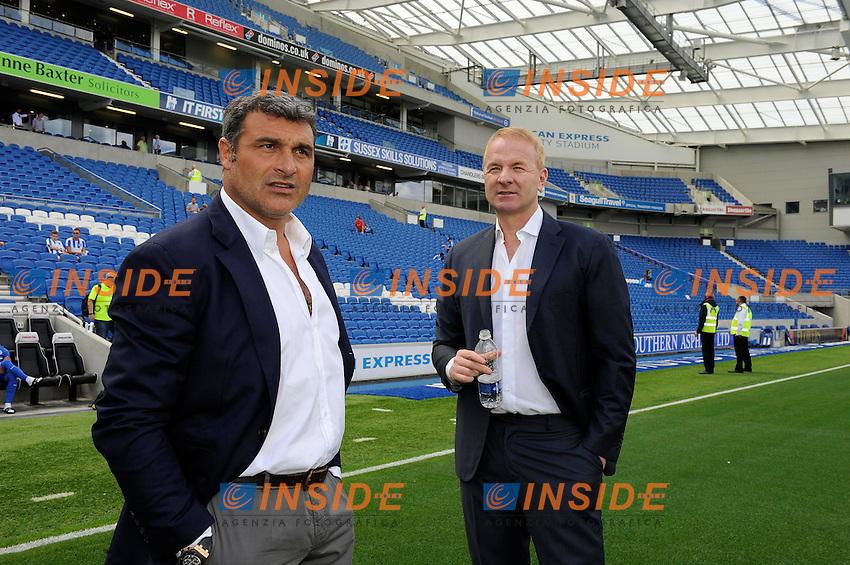 Angelo Peruzzi, Igli Tare<br /> 31-07-2016 Brighton, <br /> Amichevole Brighton Vs Lazio<br /> SS Lazio friendly match <br /> @ Marco Rosi / Fotonotizia / Insidefoto