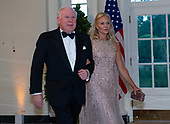 John F.W. Rogers and Ms. Deborah Lehr arrive for the State Dinner hosted by United States President Donald J. Trump and First lady Melania Trump in honor of Prime Minister Scott Morrison of Australia and his wife, Jenny Morrison, at the White House in Washington, DC on Friday, September 20, 2019.<br /> Credit: Ron Sachs / Pool via CNP