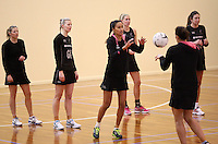Silver Ferns training for the New World Netball Series match, Wallacetown Stadium, Invercargill, New Zealand, Saturday, September 14, 2013. ©MBPHOTO/Dianne Manson Michael Bradley Photography