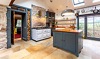 BNPS.co.uk (01202) 558833. <br /> Pic: Strutt&Parker/BNPS<br /> <br /> Kitchen with Aga. <br /> <br /> Have Nessie for a neighbour...<br /> <br /> A beautifully-restored 19th century farmstead just minutes from Loch Ness with stunning Highland views is on the market for £675,000.<br /> <br /> The Steading is in the ancient village of Dores and has been lovingly restored and transformed to create a stylish yet cosy home.<br /> <br /> The house is just a few minutes' walk from the beach at Dores and on a clear day from the shore you can see all the way to the opposite end of the iconic loch - 25 miles away at Fort Augustus - which would be a perfect spot to hunt for its famous monster.<br /> <br /> The Steading would be an ideal property for someone looking for a peaceful, rural retreat in the Scottish Highlands, or could be a good investment property to rent out to holidaymakers.