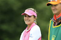 Lexi Thompson (USA) waits on the par3 5th tee during Wednesday's Pro-Am Day of The Evian Championship 2017, the final Major of the ladies season, held at Evian Resort Golf Club, Evian-les-Bains, France. 13th September 2017.<br /> Picture: Eoin Clarke | Golffile<br /> <br /> <br /> All photos usage must carry mandatory copyright credit (&copy; Golffile | Eoin Clarke)