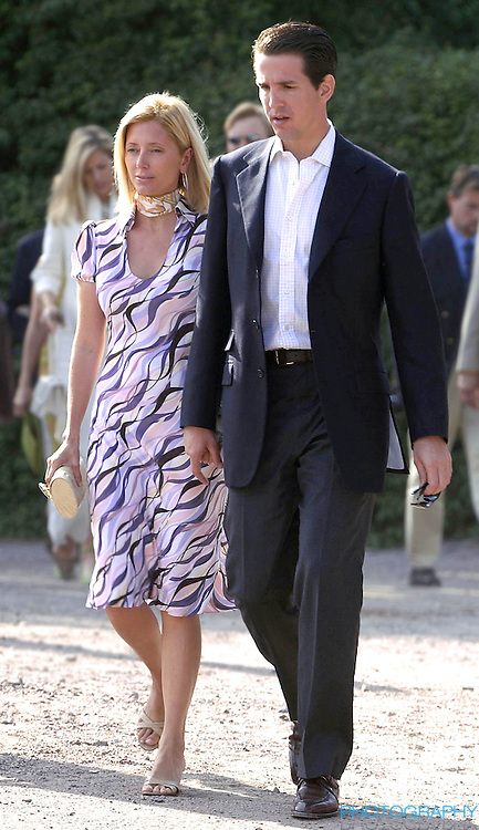 CONCERT IN BERGHOLM TO CELEBRATE CROWN PRINCESS VICTORIA.OF SWEDEN'S 25TH BIRTHDAY.  14/7/02 . PICTURE: UK PRESS  (ref 5105-15).PRINCE PAVLOS AND PRINCESS MARIE CHANTAL OF GREECE.