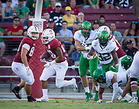 Stanford, CA - September 21, 2019: Austin Jones at Stanford Stadium. The Stanford Cardinal fell to the Oregon Ducks 21-6.
