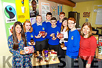 Castleisland Community College TY team is starting the process of becoming a fair trade town. Pictured Aileen Murphy, TY Teacher, Ruth Borgeat, Marketing, Robin Moore , Customer Service, Joe Sheehy, Customer service, Niall Fagin, Ast. Manager, Liam Maloney, Customer Service, Sarah Leahy, AIB Castleisland, Conor O'Sullivan, Digital Officer, Doreen Killington, teacher TY Co-ordinator