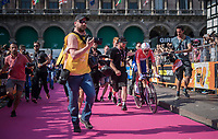 Tom Dumoulin (NED/Sunweb) just crossed the finish line, but is as yet not certain of the overall victory as 3 more GC-contenders needed to finish their race...<br /> <br /> stage 21: Monza - Milano (29km)<br /> 100th Giro d'Italia 2017