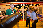 Skills Active Cymru<br /> James Paine from Techniquest with students Kelsey Johns &amp; Alisha Williams from Dylan Thomas School.<br /> Cardiff International Arena<br /> 23.10.14<br /> &copy;Steve Pope-FOTOWALES