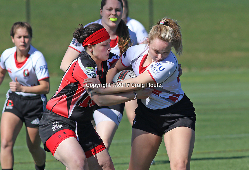 Ohio State women's rugby against Rutgers 1 women's rugby during the Big Ten Women's Rugby 7's Tournament on April 9, 2017. Rutgers 1 won 22-12. Photo/©2017 Craig Houtz