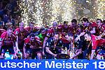 09.06.2019, ISS Dome, Duesseldorf,  GER, 1. HBL. Herren, BHC vs. SG Flensburg Handewitt, <br /> <br /> im Bild / picture shows: <br /> nach der Siegerehrung  feiern die Flensburger Spieler den Sieg und die Meisterschaft in der 1. HBL, Jubel, Freude<br /> <br /> <br /> Foto © nordphoto / Meuter