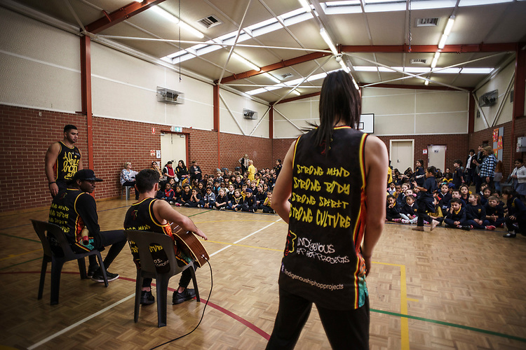 Indigenous Hip hop Group at Challa Gardens Primary School. PArt of Dream Big Festival.