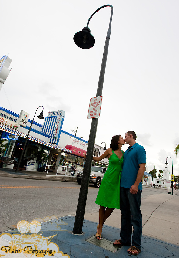 Katie Olsen and Justin Compton during their engagement shoot e-session on Thursday, July 30, 2009 in Tarpon Springs, Florida. They are getting married May 30, 2010. (Chad Pilster, http://www.PilsterPhotography.net)