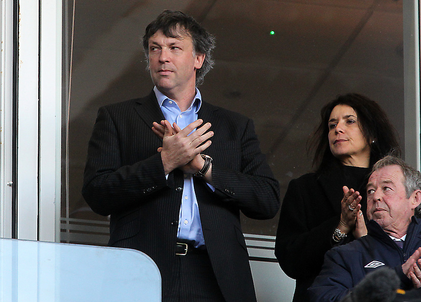 Blackpool's Karl Oyston<br /> <br /> Photographer Mick Walker/CameraSport<br /> <br /> Football - The Football League Sky Bet Championship - Blackpool v Millwall - Saturday 10th January 2015 - Bloomfield Road - Blackpool <br /> <br /> &copy; CameraSport - 43 Linden Ave. Countesthorpe. Leicester. England. LE8 5PG - Tel: +44 (0) 116 277 4147 - admin@camerasport.com - www.camerasport.com