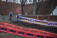 Ryan Cortjens (BEL), WItse Meeusen (BEL)<br /> <br /> Men's junior race<br /> <br /> UCI 2019 Cyclocross World Championships<br /> Bogense / Denmark<br /> <br /> &copy;kramon