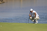 Nicolas Colsaerts (BEL) on the 14th during the final round of  the Saudi International powered by Softbank Investment Advisers, Royal Greens G&CC, King Abdullah Economic City,  Saudi Arabia. 02/02/2020<br /> Picture: Golffile | Fran Caffrey<br /> <br /> <br /> All photo usage must carry mandatory copyright credit (© Golffile | Fran Caffrey)