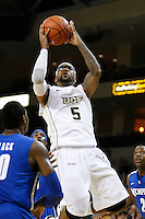 February 9, 2011: Central Florida guard Marcus Jordan (5) goes for a layup during second half mens Conference USA NCAA basketball game action between the Memphis Tigers and the Central Florida Knights. Memphis defeated Central Florida 63-62 at the UCF Arena Orlando, Fl..