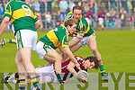 Kerry's l-r: Darran O'Sullivan and Galway's Sean Armstrong.