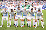Malaga CF players during a match of La Liga Santander at Vicente Calderon Stadium in Madrid. October 29, Spain. 2016. (ALTERPHOTOS/BorjaB.Hojas)