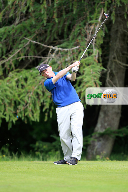 Jim McVeigh (Carlow) on the 8th tee during Round 1 of the Leinster Seniors Amateur Open Championship at Enniscorthy Golf Club on Tuesday 23rd June 2015.<br /> Picture:  Thos Caffrey / www.golffile.ie