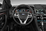 Steering wheel view of a 2017 Ford Taurus LTD