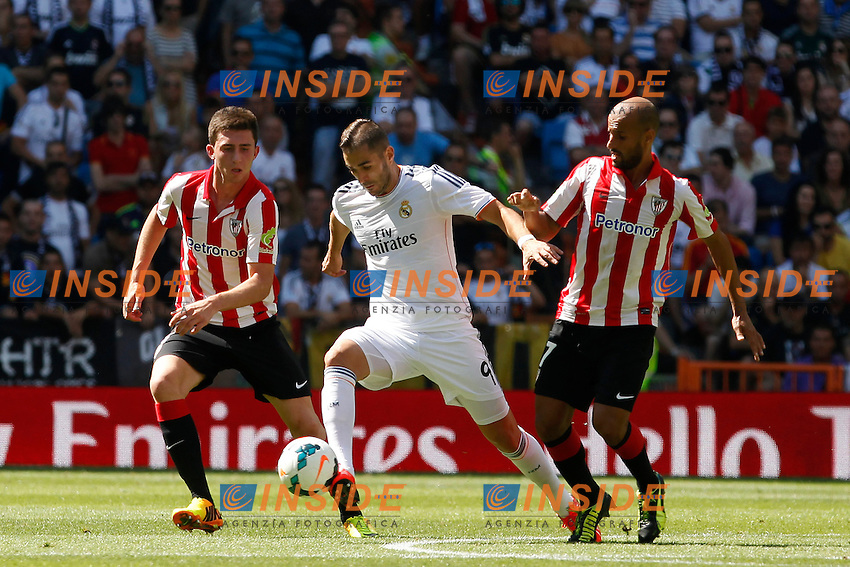 Real Madrid's Benzema and Athletic Club's Laporte and Mikel Rico during La Liga Match. September 01, 2013. (ALTERPHOTOS/Caro Marin) <br /> Football Calcio 2013/2014<br /> La Liga Spagna<br /> Foto Alterphotos / Insidefoto <br /> ITALY ONLY