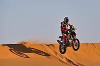 12th January 2020, Riyadh, Saudi Arabia;  16 Benavides Luciano (arg), KTM, Red Bull KTM Factory Team, Moto, Bike, during Stage 7 of the Dakar 2020 between Riyadh and Wadi Al-Dawasir, 741 km - SS 546 km, in Saudi Arabia   - Editorial Use