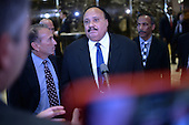 Martin Luther King III  speaks to members of the media after a meeting with President-Elect Donald J. Trump (not pictured) in the lobby of the Trump Tower in New York, NY, on January 16, 2017.<br /> Credit: Anthony Behar / Pool via CNP