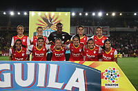 BOGOTA -COLOMBIA, 15-06-2017.Team  of Independiente Santa Fe  agaisnt of Atletico Bucaramanga womens  during match for semifinals Women´s  Aguila League I 2017 played at Nemesio Camacho El Campin stadium . Photo:VizzorImage / Felipe Caicedo  / Staff