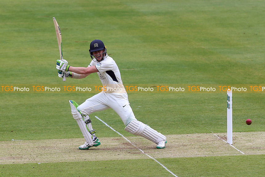 Nick Gubbins hits four runs for Middlesex during Middlesex CCC vs Essex CCC, Specsavers County Championship Division 1 Cricket at Lord's Cricket Ground on 21st April 2017
