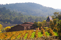 Domaine Borie la Vitarèle Causses et Veyran St Chinian. Languedoc. The winery building. France. Europe. Vineyards.
